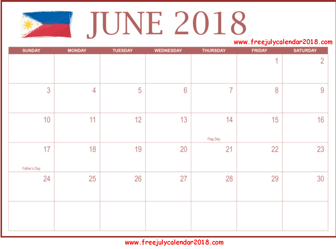 July 2018 Calendar Philippines