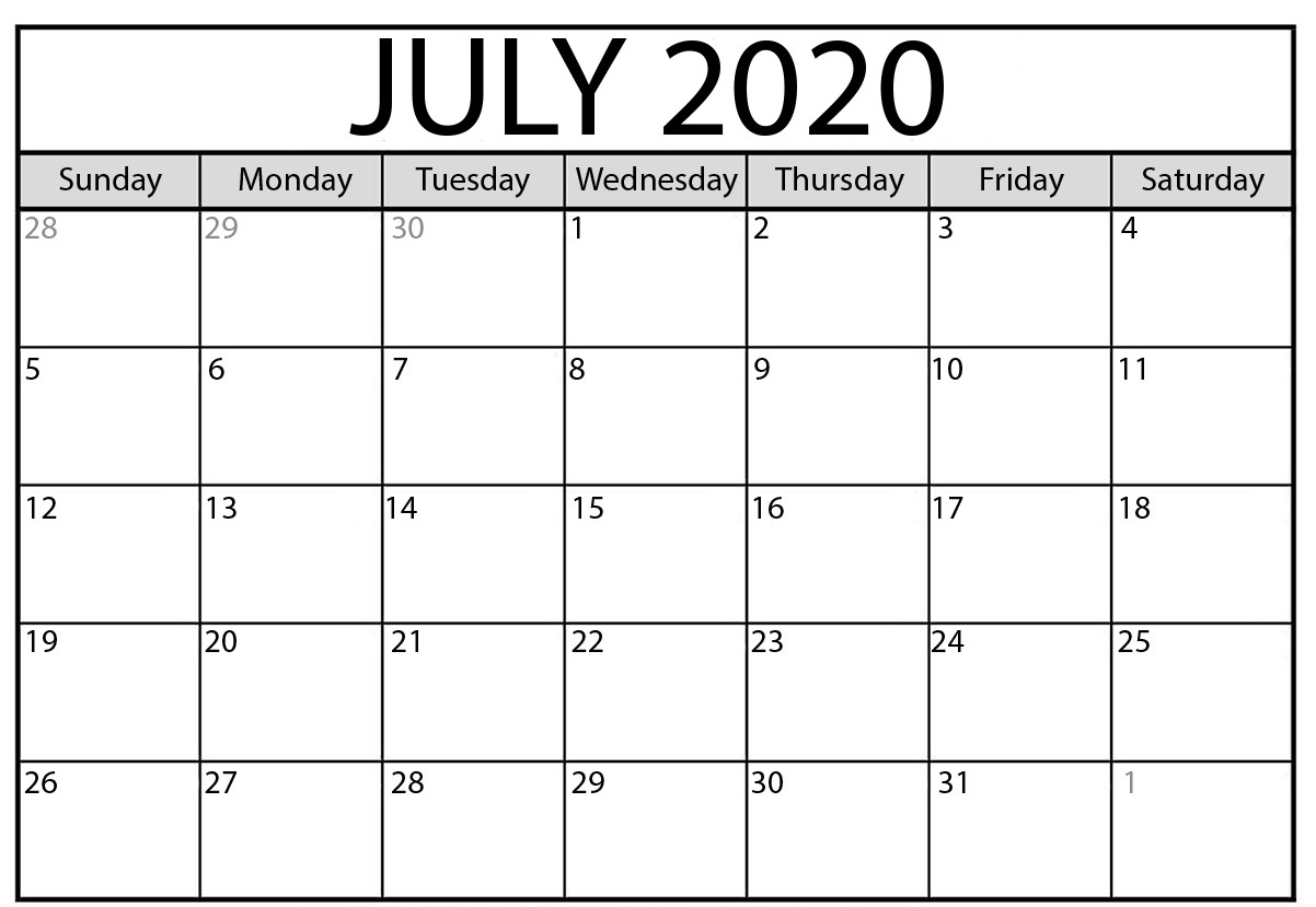 July 2020 Calendar Holidays Philippines