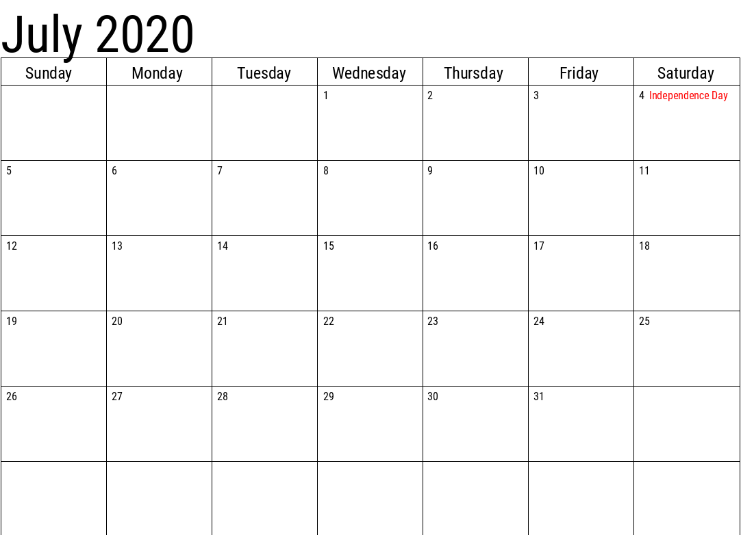 July 2020 Calendar Holidays South Africa