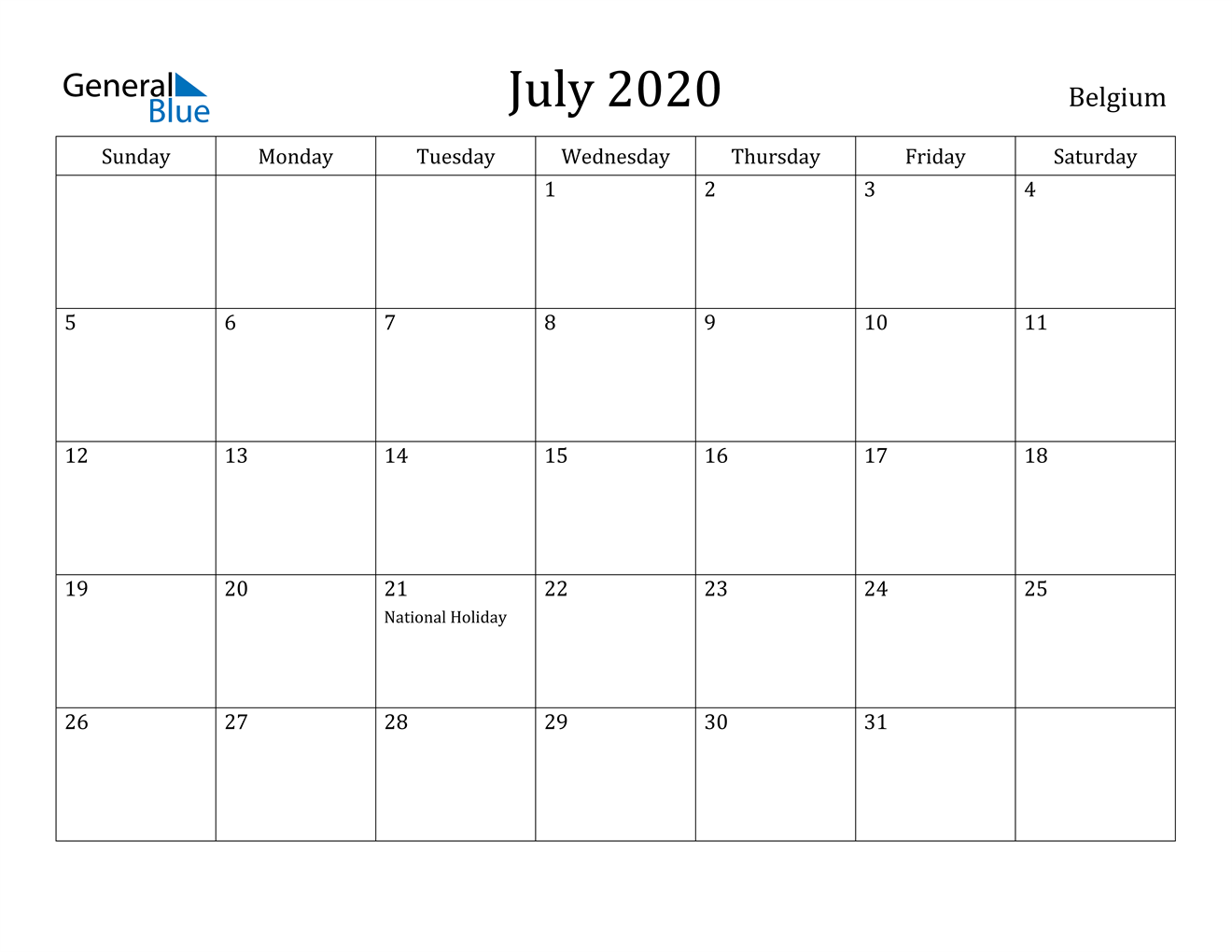 July 2020 Calendar Holidays UK