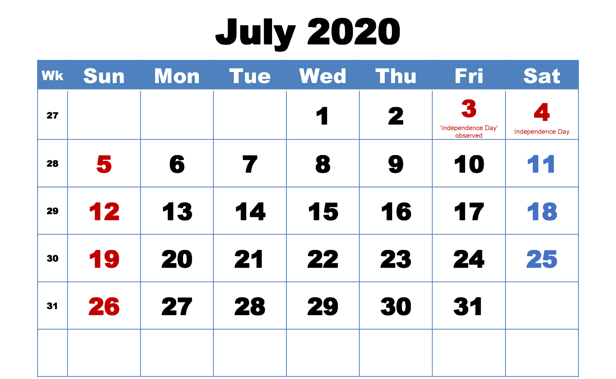 July 2020 Holidays For Singapore