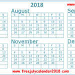 July August September 2018 Calendar | July Month Calendar 2018