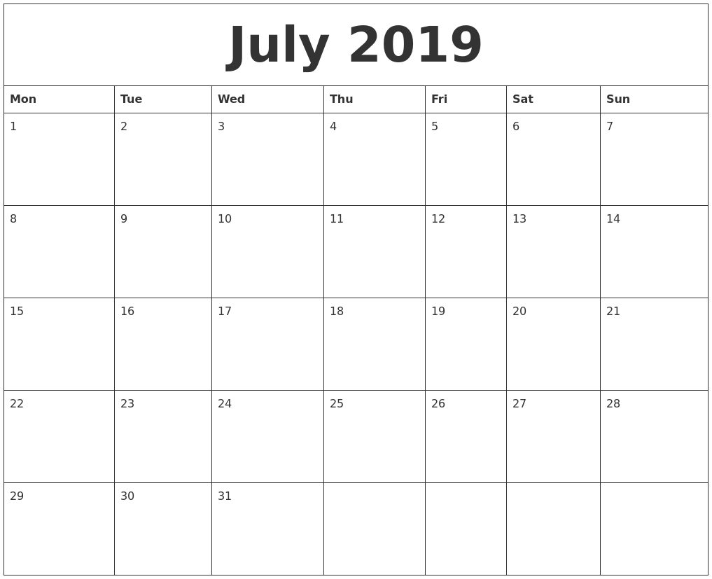 image about Printable Calendar Months referred to as July August September 2019 Calendar July Thirty day period Calendar