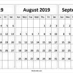July August September 2019 Calendar | July Month Calendar 2019