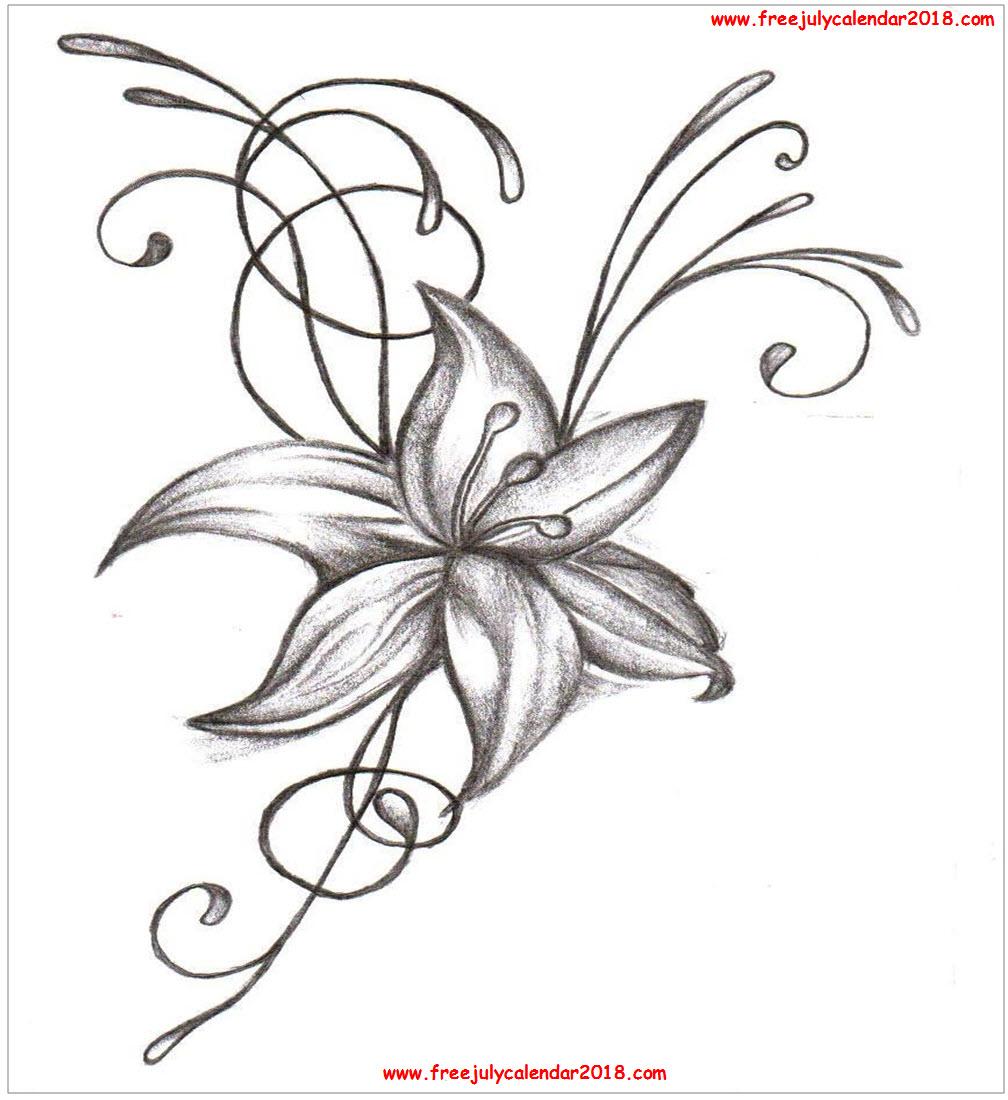 July Flower Tattoos