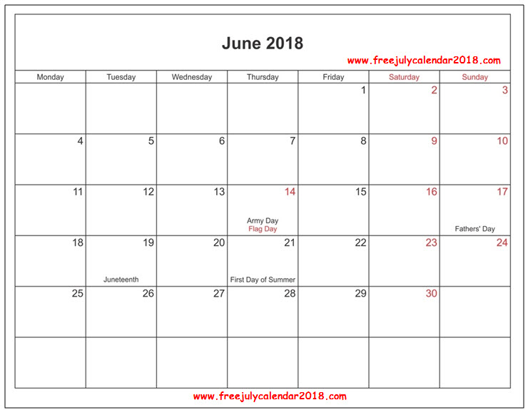 calendar for june 2018 word june 2018 calendar word