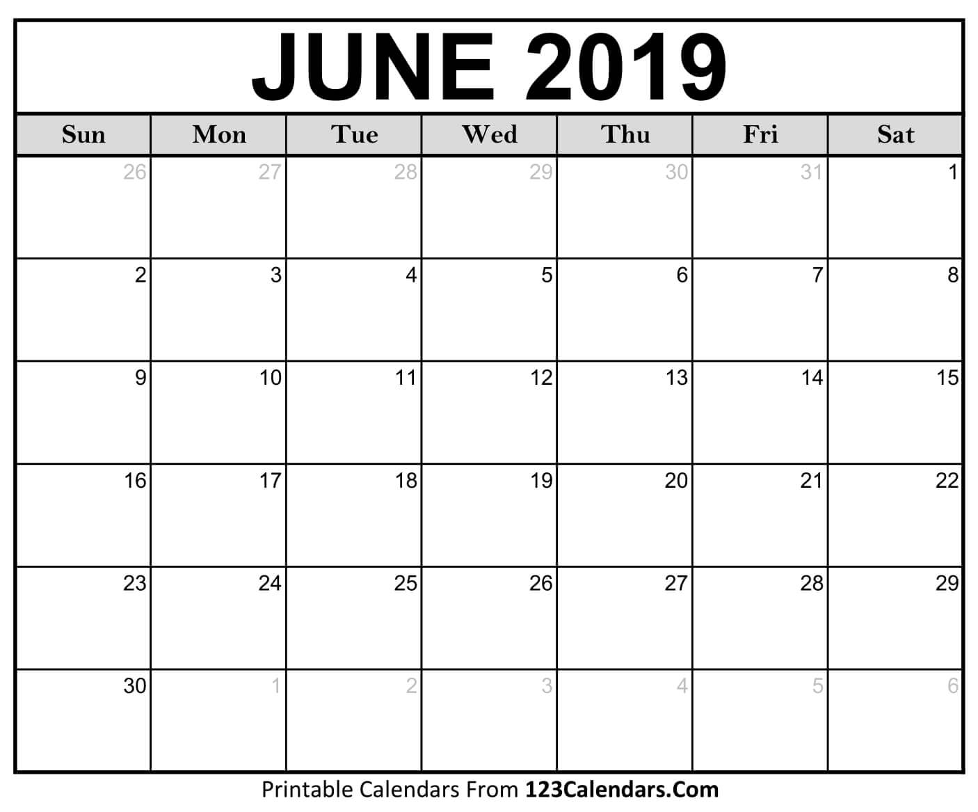 Calendar Of June.Decorative June 2019 Calendar Pdf Page Excel Word Floral Wallpaper