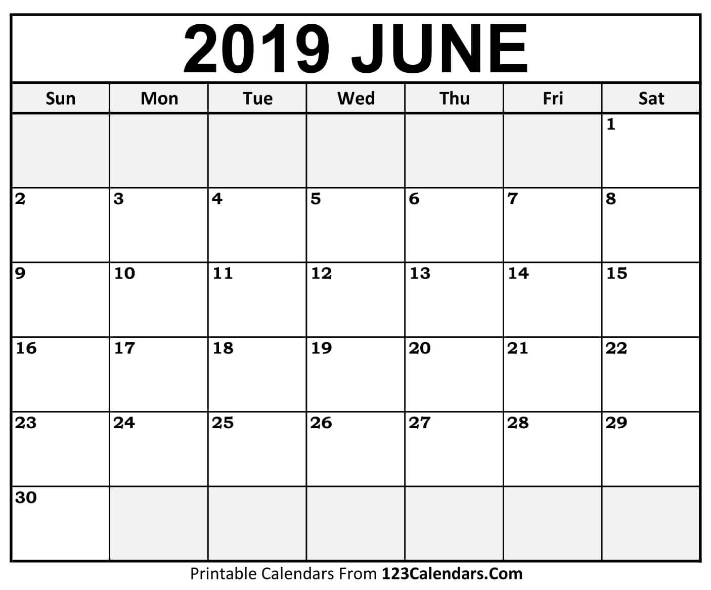 Calendar Of June.Free Printable Calendar Of June 2019 Blank Templates Word