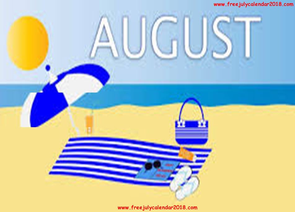 August Clipart Images