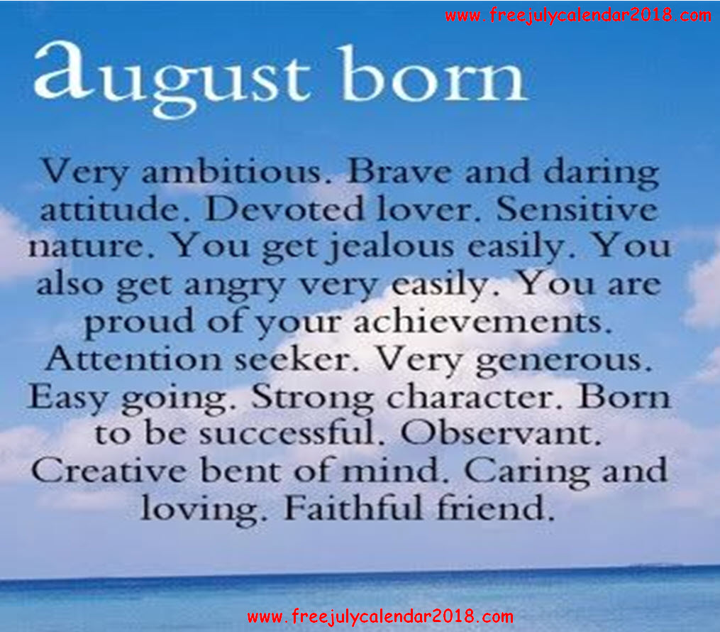Quotes For August Month