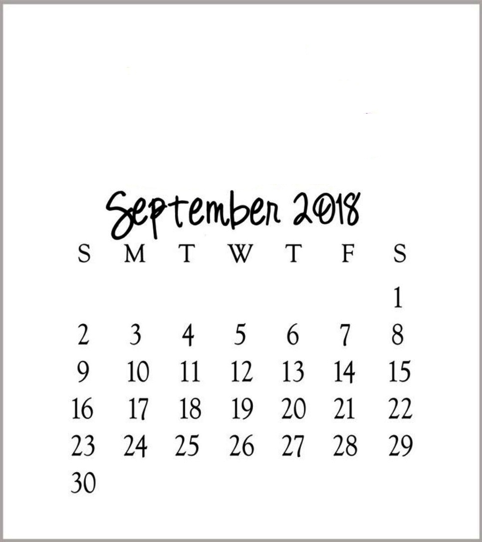 Free Printable September Calendar 2018 Weekly