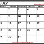 {Free} July 2019 Calendar Printable Blank Templates Holidays | Monthly July Calendar 2019