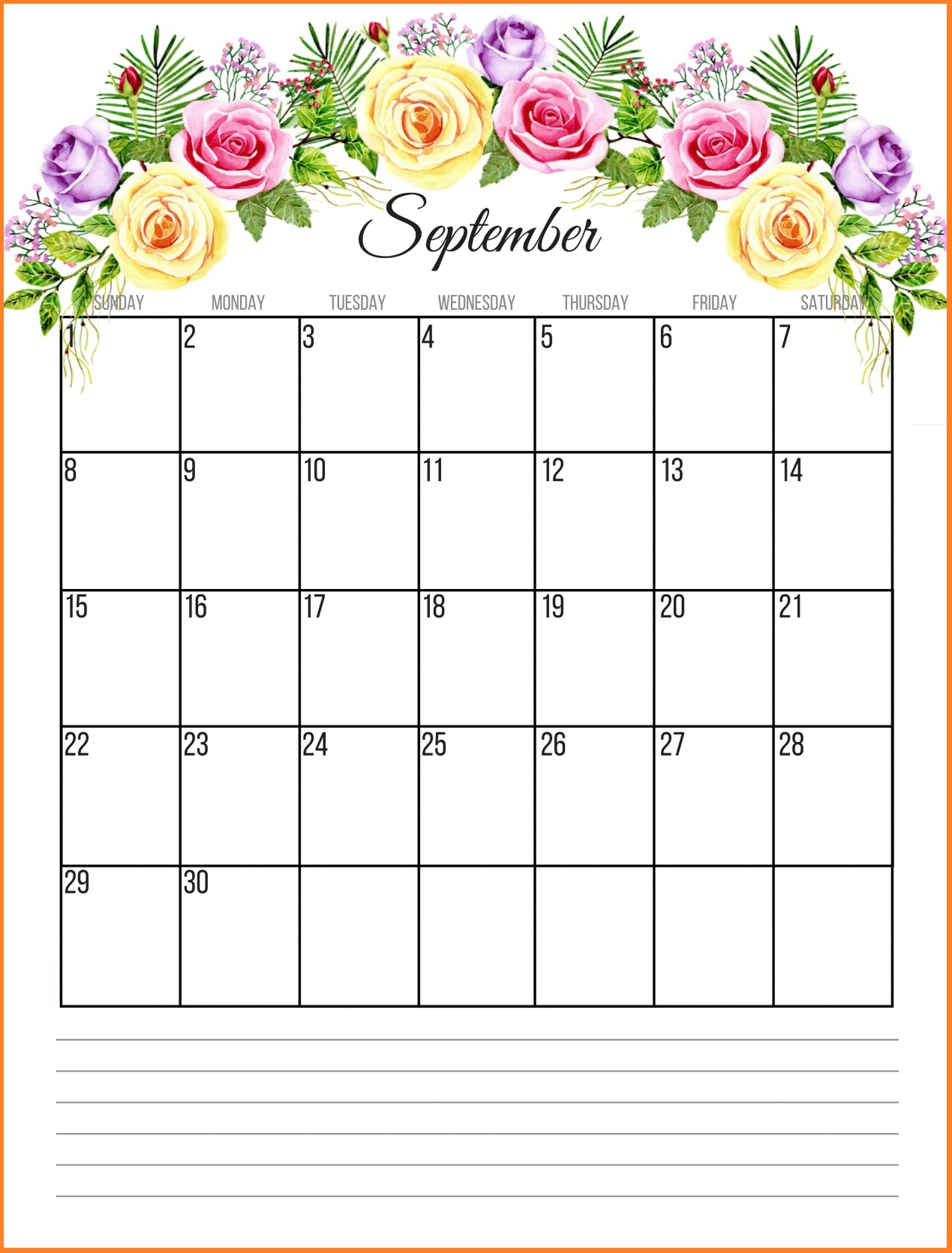 free printable september 2018 monthly calendar september calendar printable template with holidays 2018