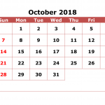 Free Printable October 2019 Calendar Templates Blank PDF Word  Page A4 Online Download