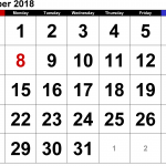 September 2018 Calendar with Holidays USA UK Canada with Printable Notes Format