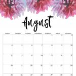 Blank August 2020 Calendar Printable Free Download