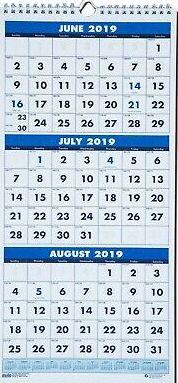 June July August 2020 Calendar