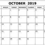 October 2019 Calendar Printable July 2020 Calendar