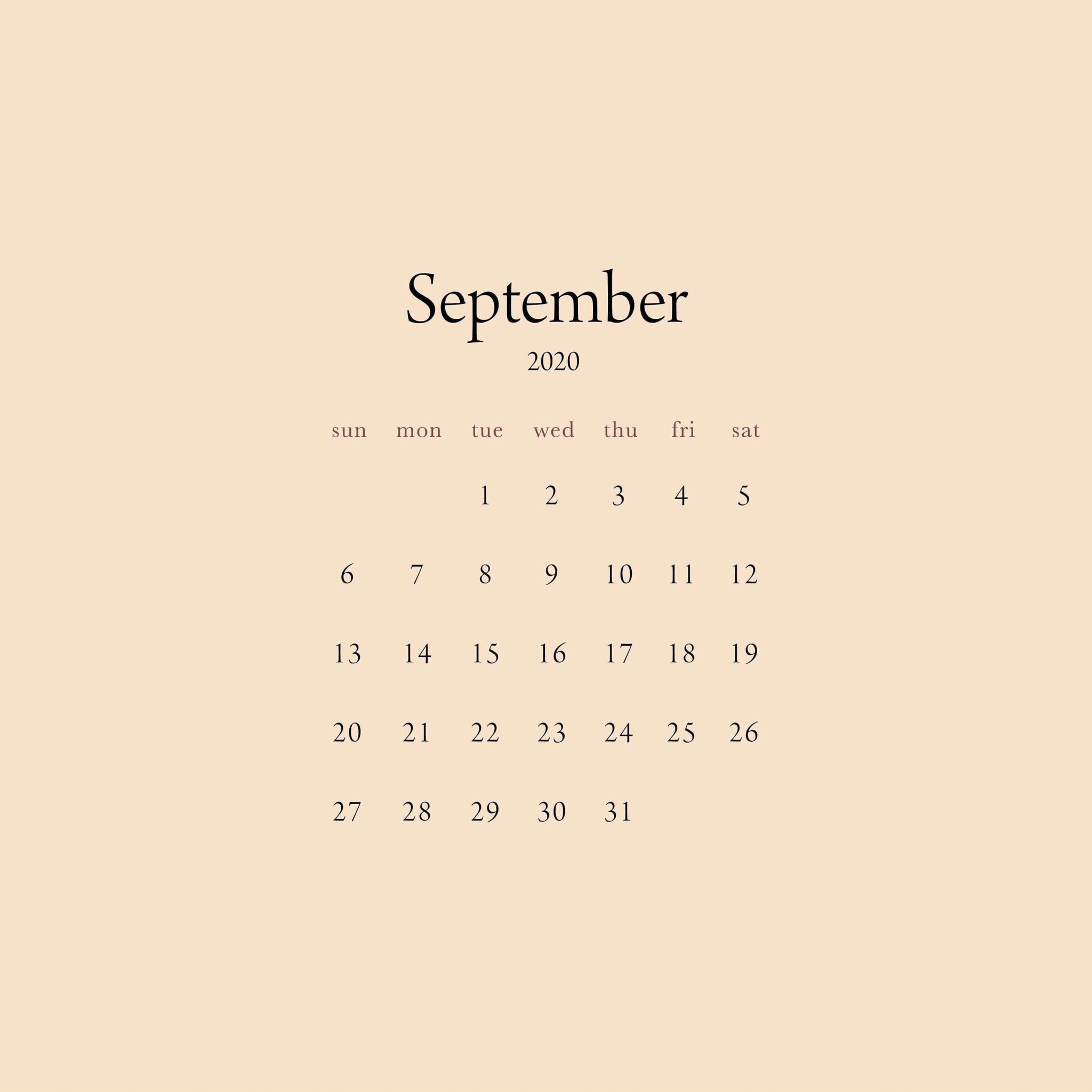 2021 September Desktop Calendar Wallpaper
