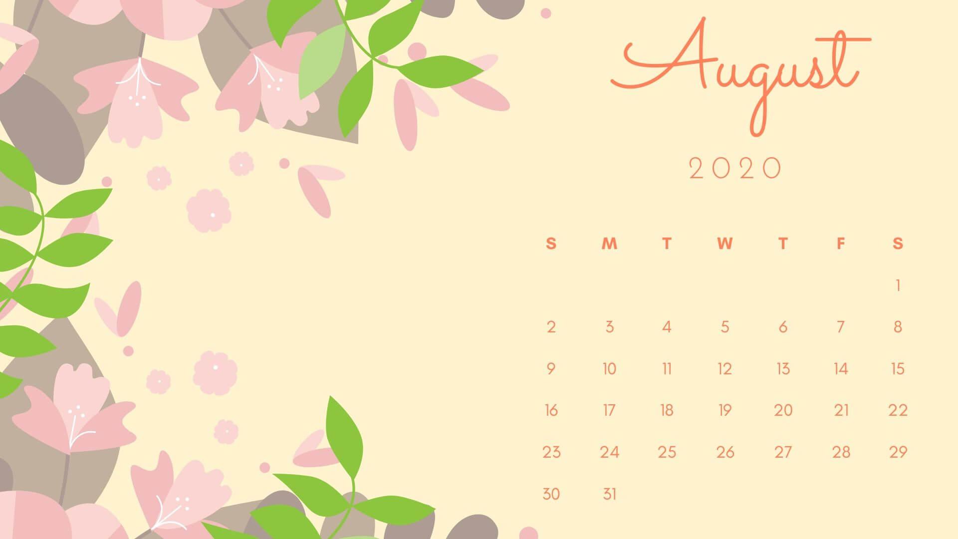 August 2020 Floral Desktop Wallpaper
