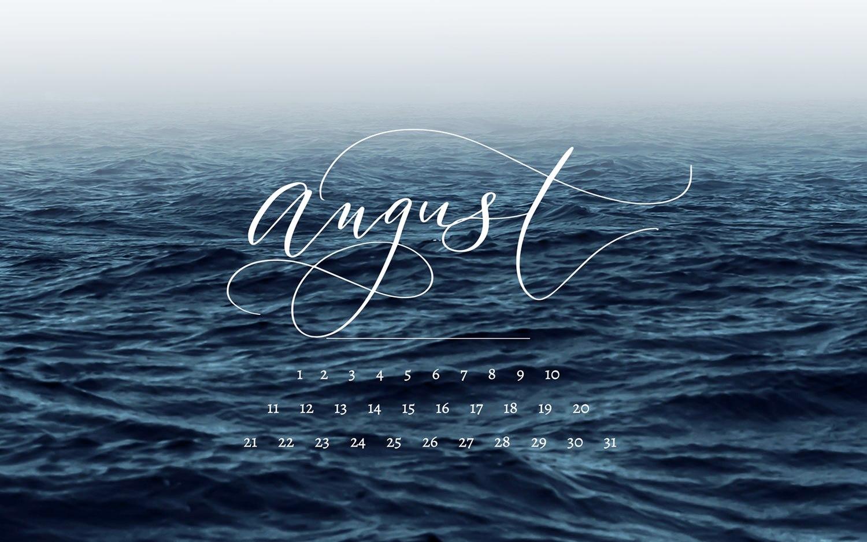 Calligraphy Calendar August 2019