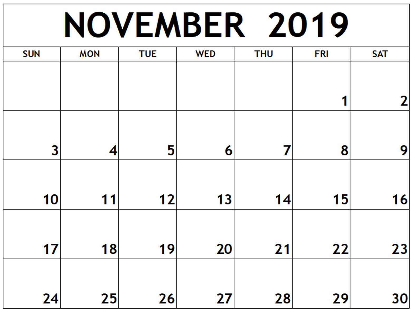 picture about Printable November Calendar Pdf referred to as November 2019 Calendar PDF, Term, Excel Template
