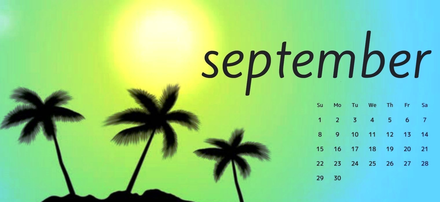 September 2019 Calendar for Desktop