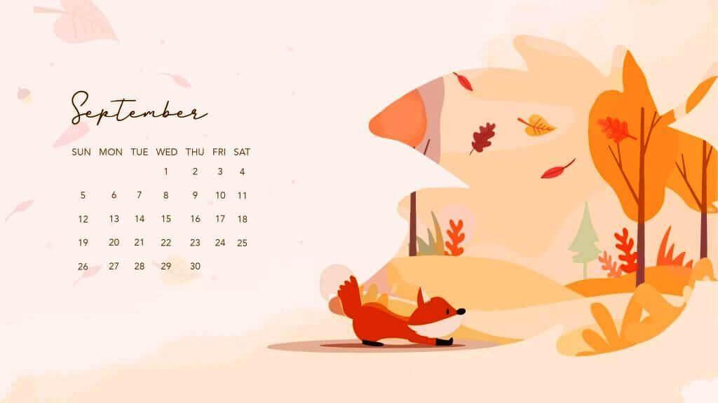 September 2021 Desktop Calendar Template
