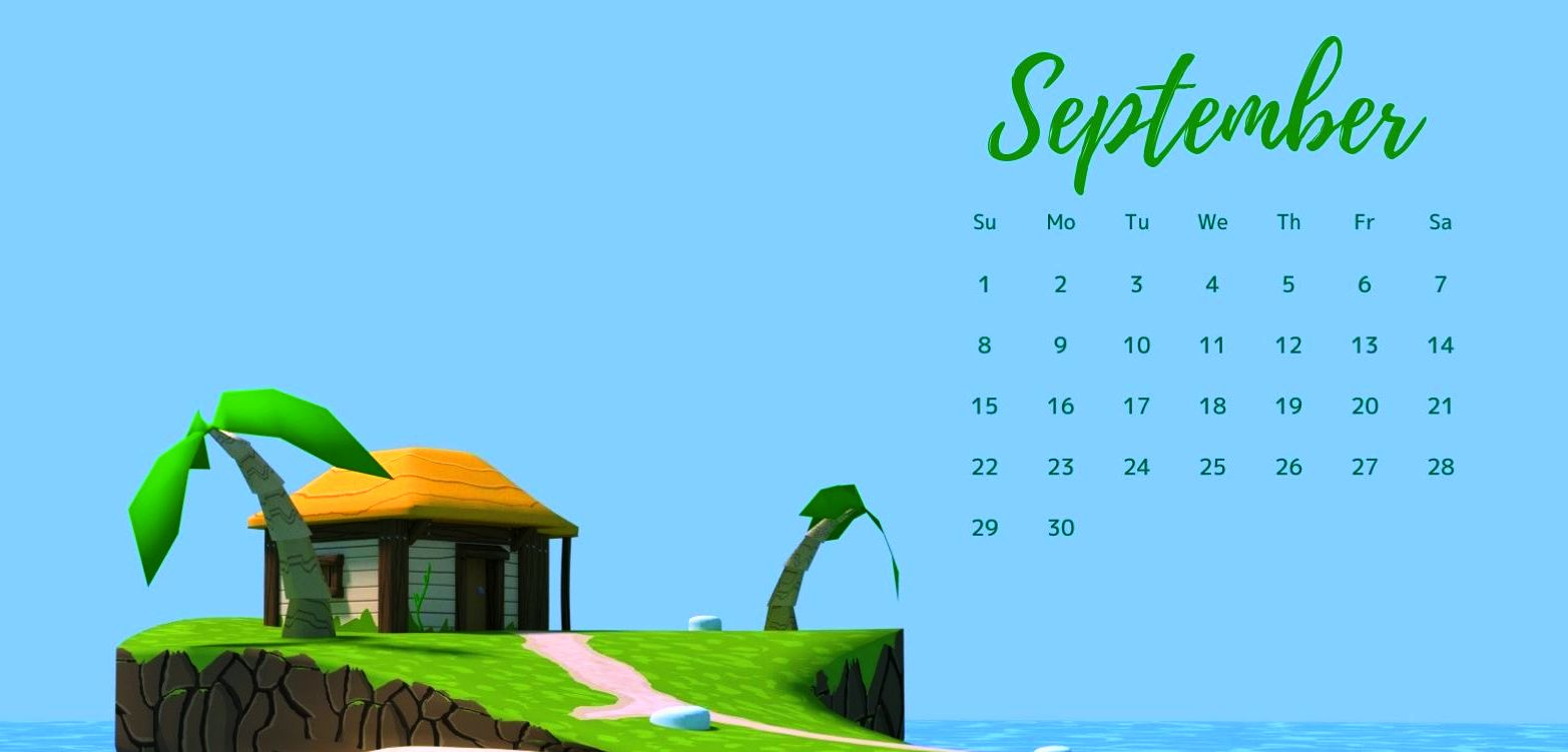 2019 September Calendar Desktop