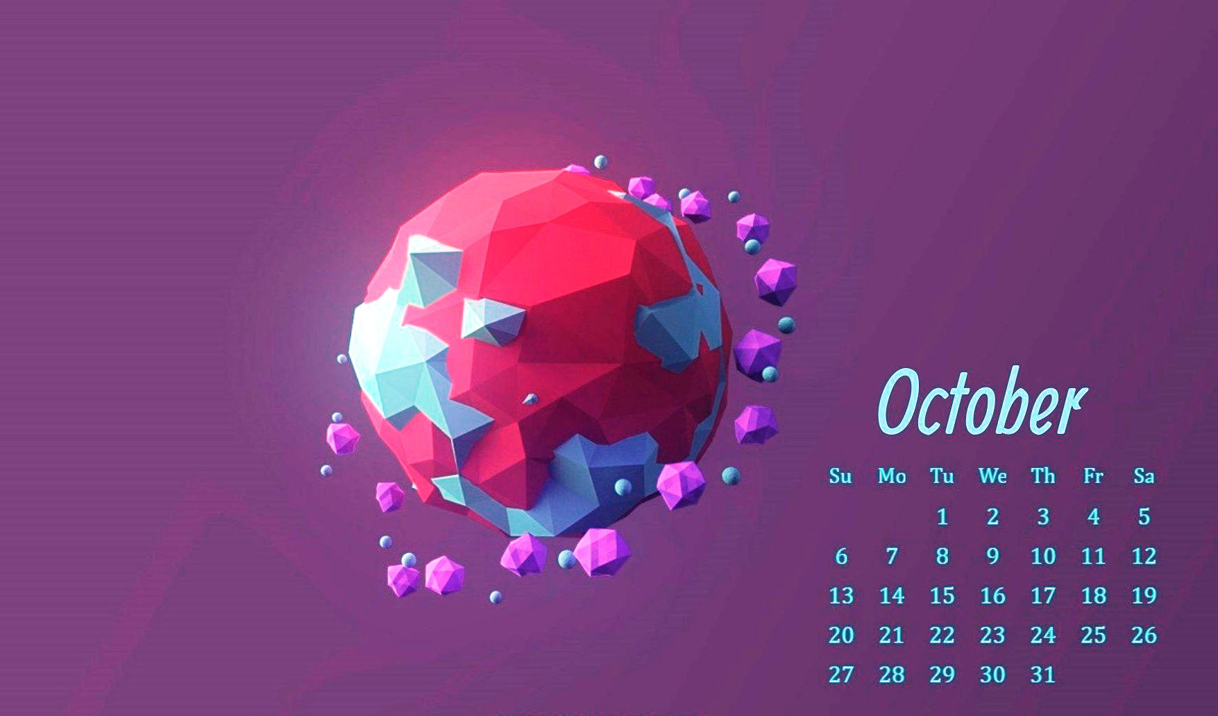 Printable October 2019 Calendar Wallpaper