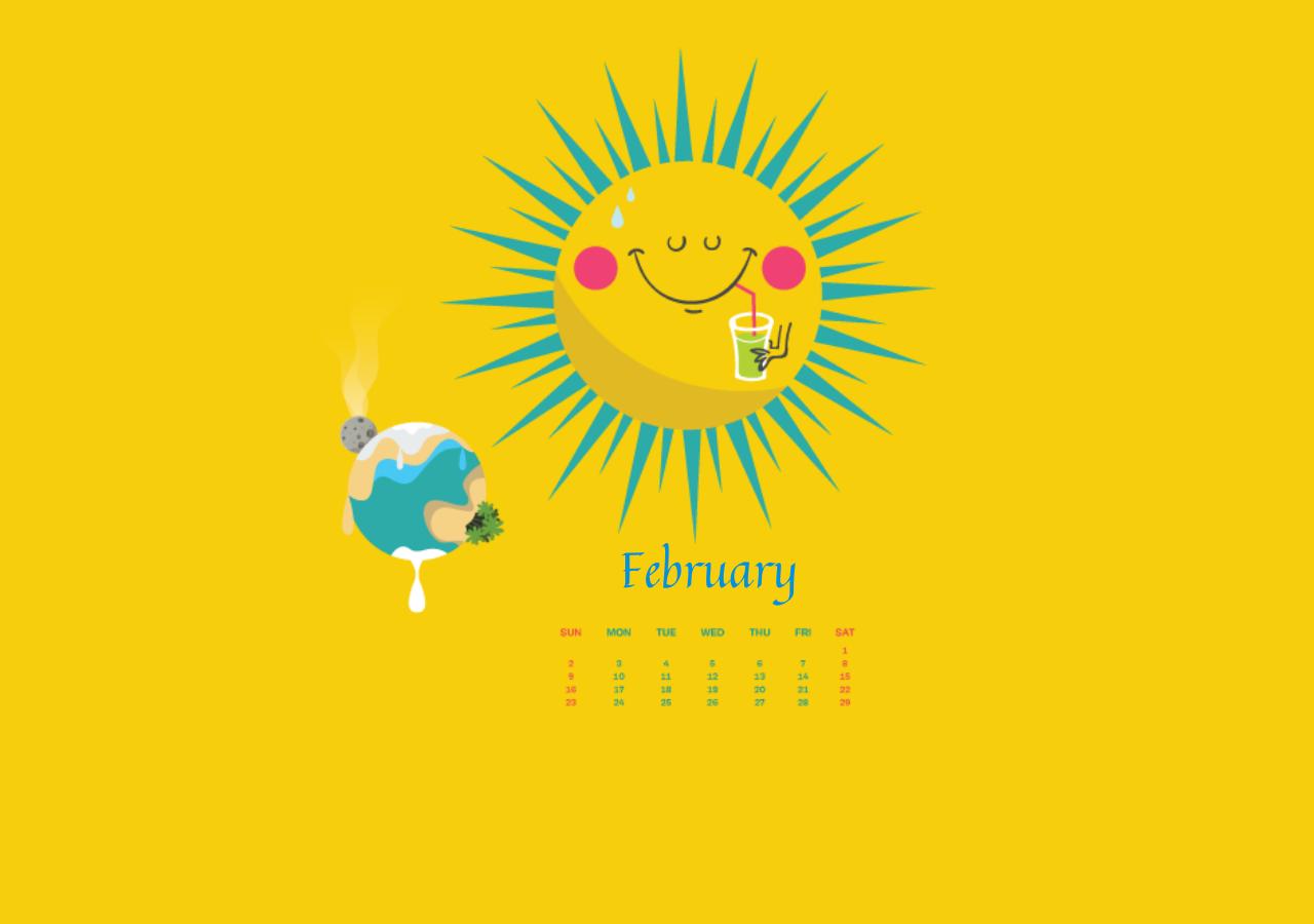 2020 February Wallpaper Calendar