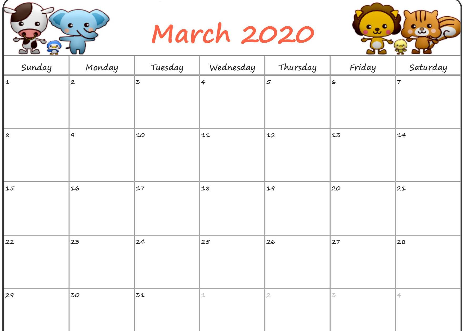 Floral March Calendar 2020 Cute Wallpaper For Desktop Laptop Iphone