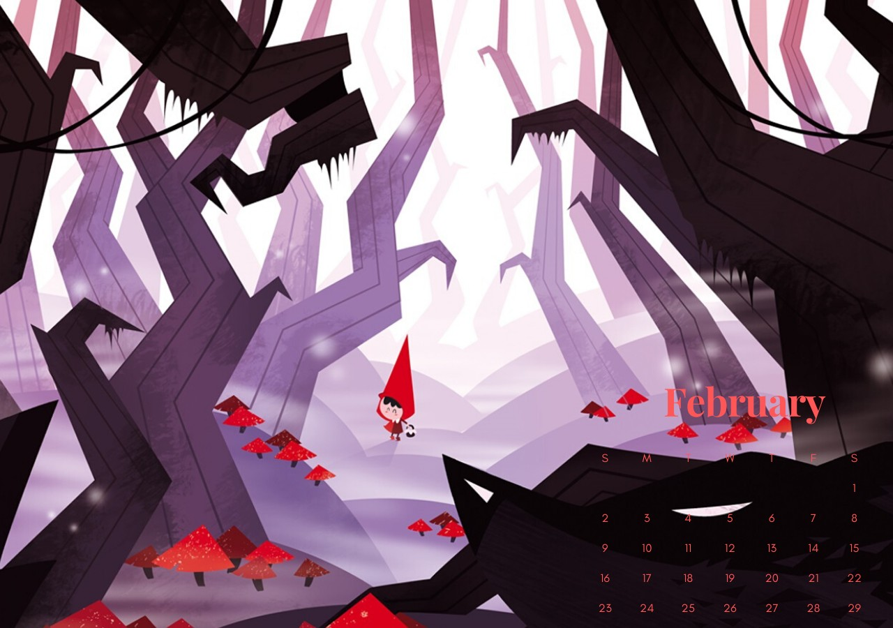 February 2020 Animated Wallpaper