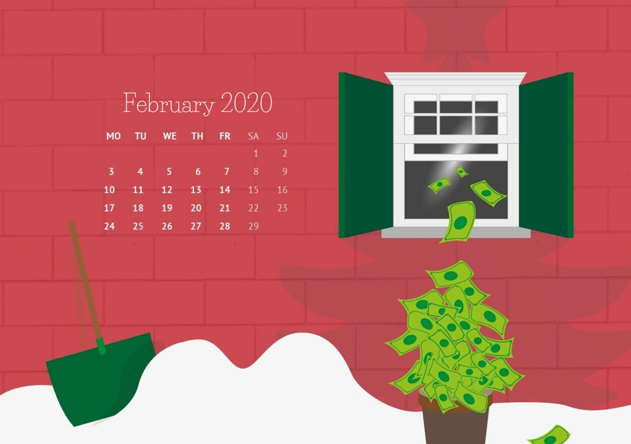 February 2020 Desktop Wallpaper
