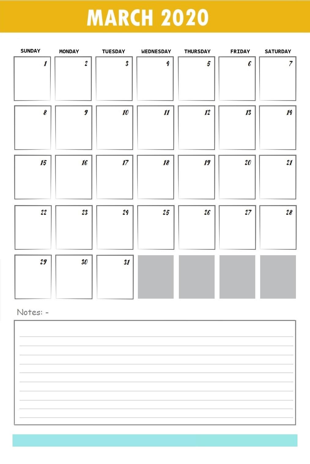 Floral March Calendar 2020 Wallpaper