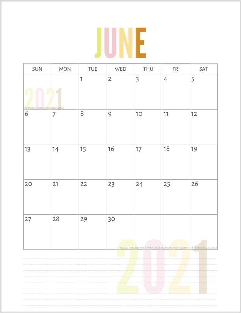 June 2021 Planner Calendar PDF