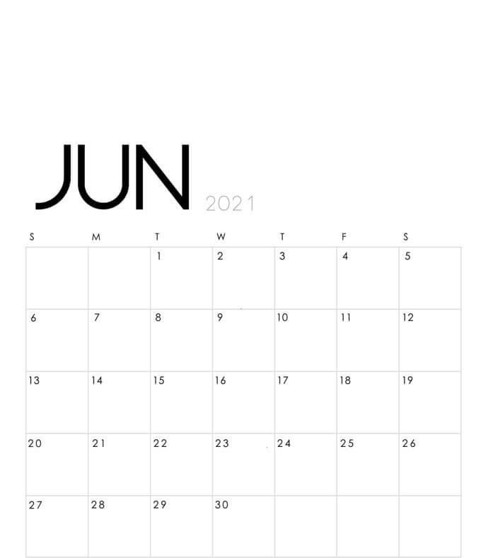 June Planner 2021 Calendar