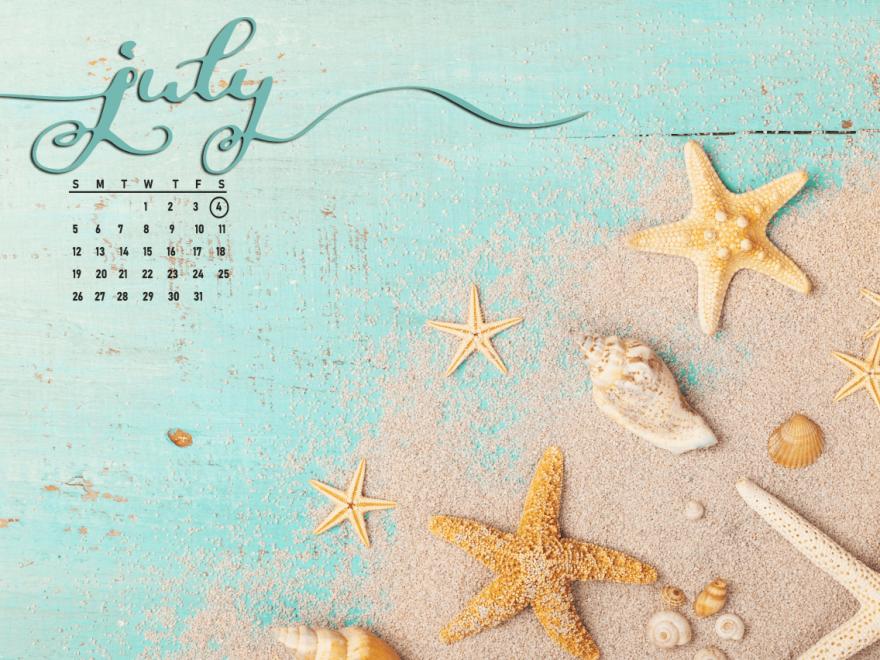 July 2021 Calendar Desktop Wallpaper