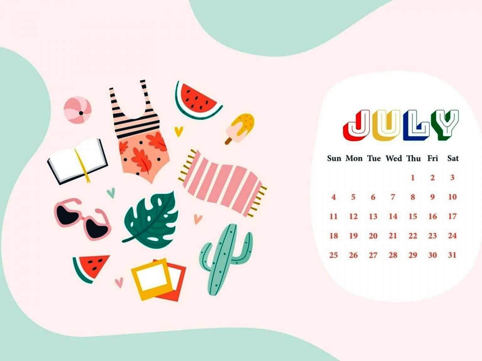July 2021 Wall Calendar