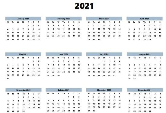 Philippines 2021 Printable Holiday Calendar