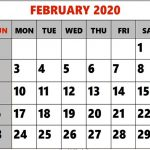 Free Editable February 2020 Calendar Printable Template with Notes