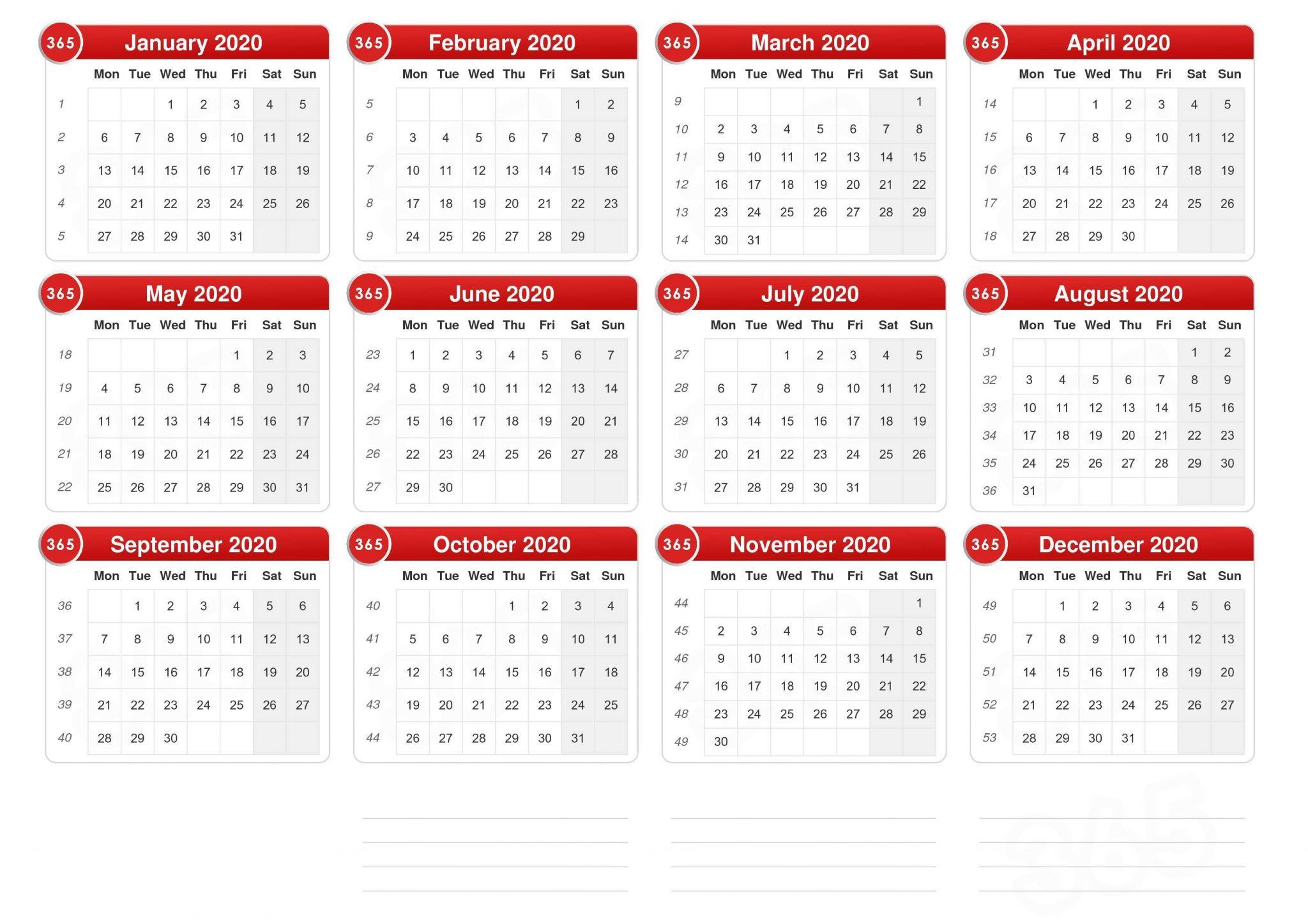 UK 2020 Holidays