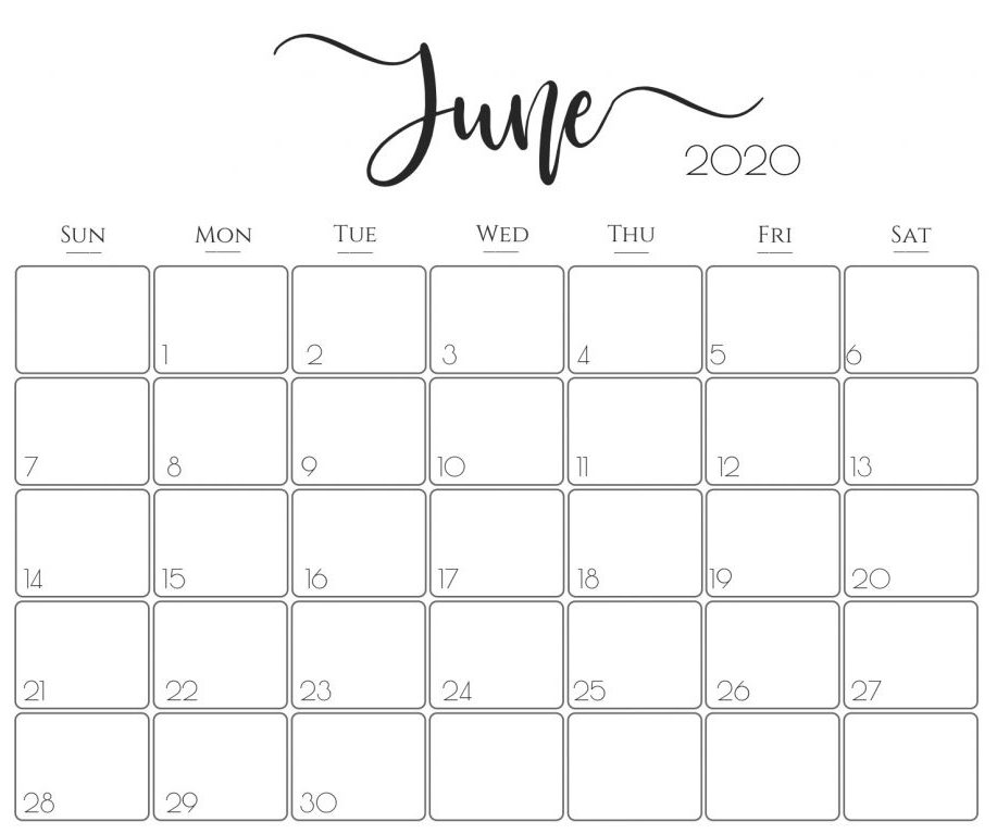 July Calendar 2020 Excel
