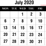 {Free} July 2020 Calendar Printable Blank Templates Holidays | Monthly July Calendar 2020