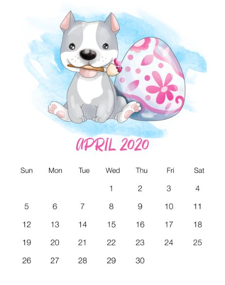 April 2020 Calendar HD Wallpaper