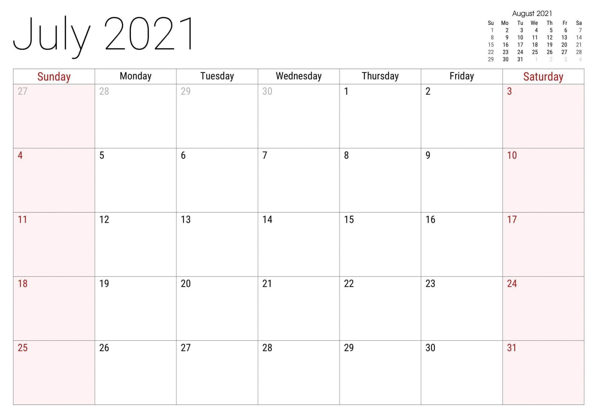 July 2021 Holidays Canada