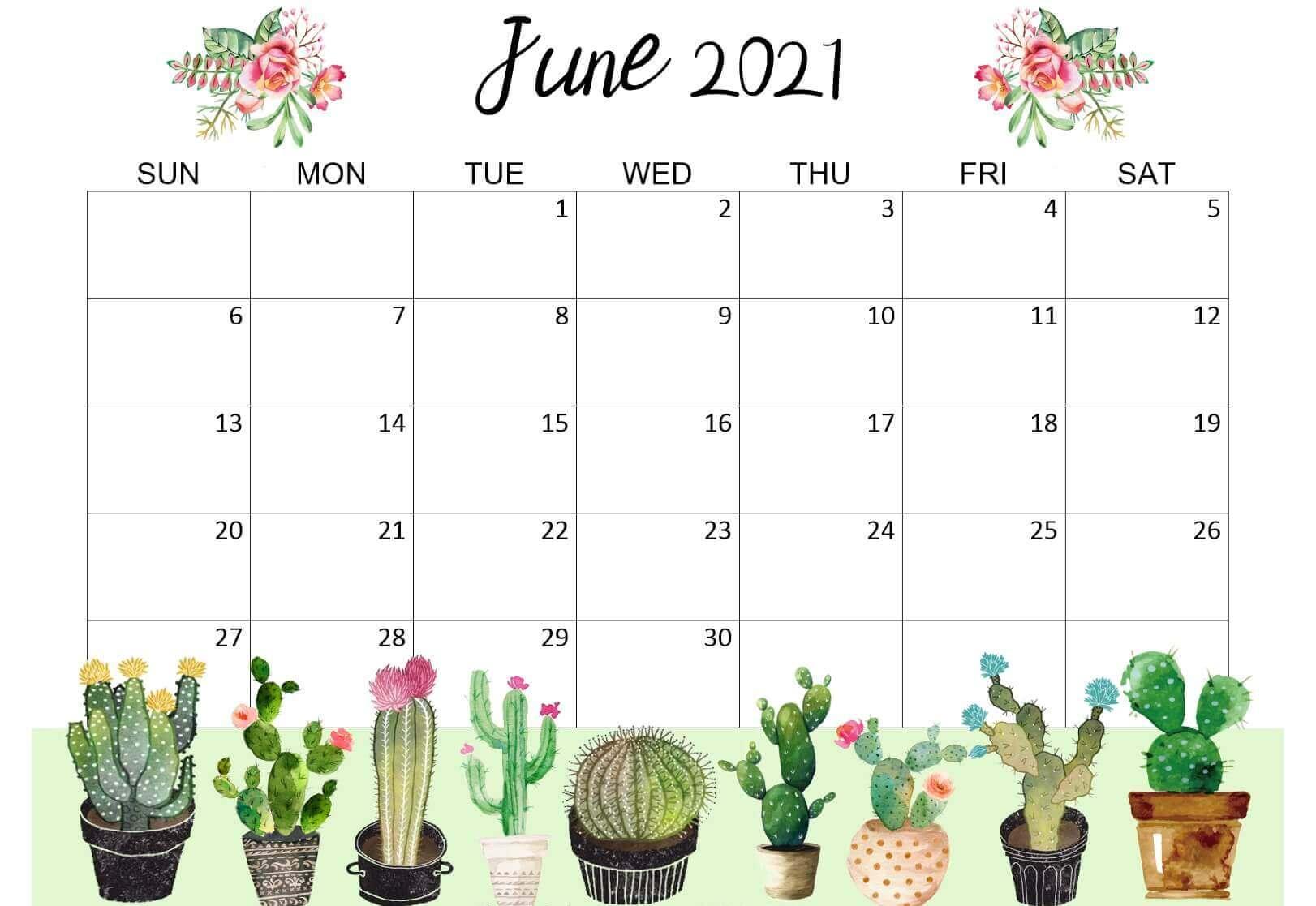 Calendar June 2021 Cute