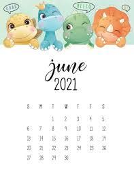 June 2021 Calendar Wallpaper