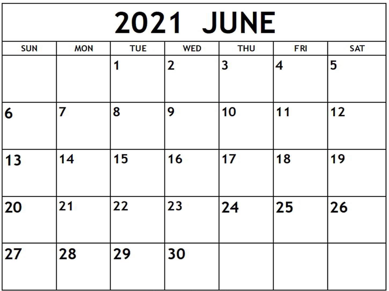 Personalized June 2021 Calendar