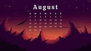 August 2021 Desktop Calendar